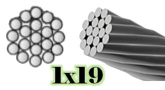 1X19 Galvanized Aircraft Cable
