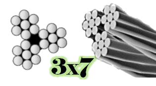 3X7 Galvanized Aircraft Cable