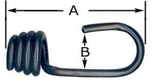 5MM (3/16) Black Plastic Coated Steel Bungee Hook