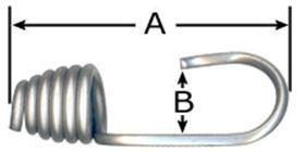 12MM (1/2) Grey Stainless Steel Bungee Hook