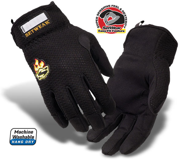 Easy-Fit Black Setwear Gloves - SW-05-007 thru 012