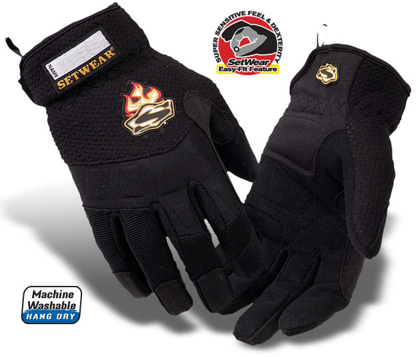 EZ (New Easy-Fit)Black Setwear Gloves - SE2-05-007 thru 012
