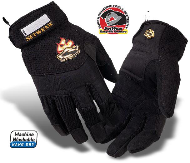 EZ (New Easy-Fit)Black Setwear Gloves - SE2-05-007 thru 012