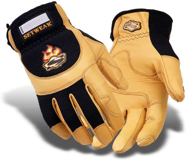 Tan Leather Setwear Gloves - SWP-09-007 thru 011