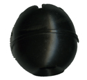 30mm Black Toggle Ball for 6MM (1/4) Bungee Cord