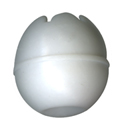 30mm White Toggle Ball for 6MM (1/4) Bungee Cord
