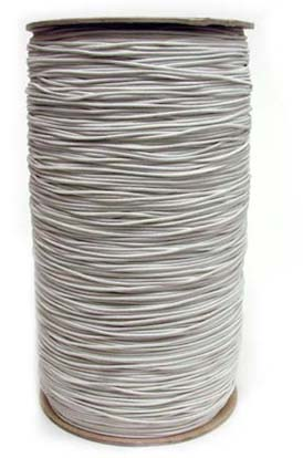 1/16 (1MM) Solid White Polyester Bungee Cord