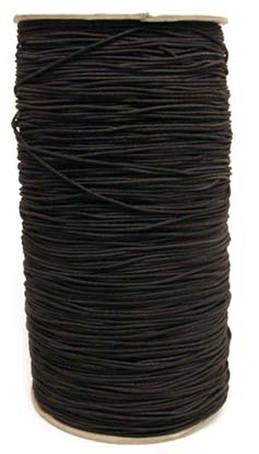 1/16 1MM) Solid Black Polyester Bungee Cord