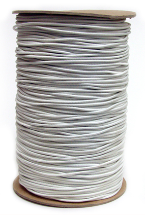3/32 (2MM) Solid White Polyester Bungee Cord