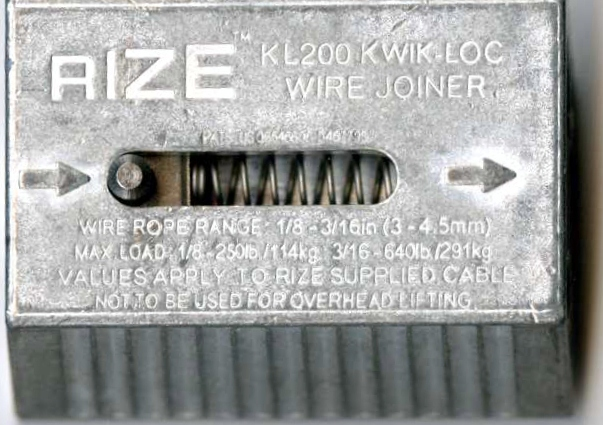 KL200 KWIK-LOC for 1/8 & 3/16 Cable