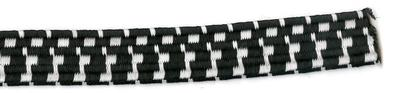 3/4 black with white Flat Tubulor Bungee Cord