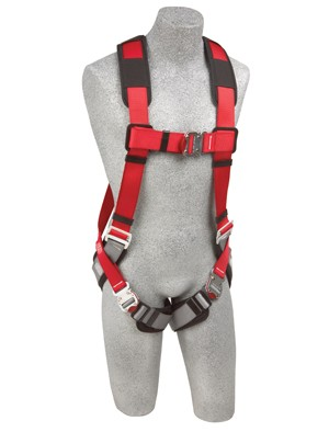 Protecta Pro Vest Style Full Body Harness with Quick Connect padded buckle leg strap