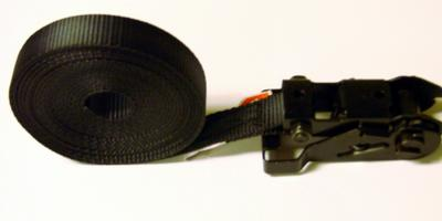 1 X 15 Heavy Duty Black Endless Ratchet Tie Down Strap