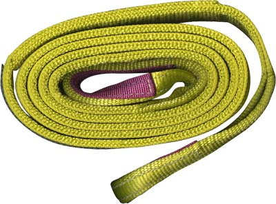 4 X 16FT , TWO PLY EYE TO EYE HEAVY DUTY WEB SLING, HALF TWISTED HALF TAPERED EYES (TYPE 4)