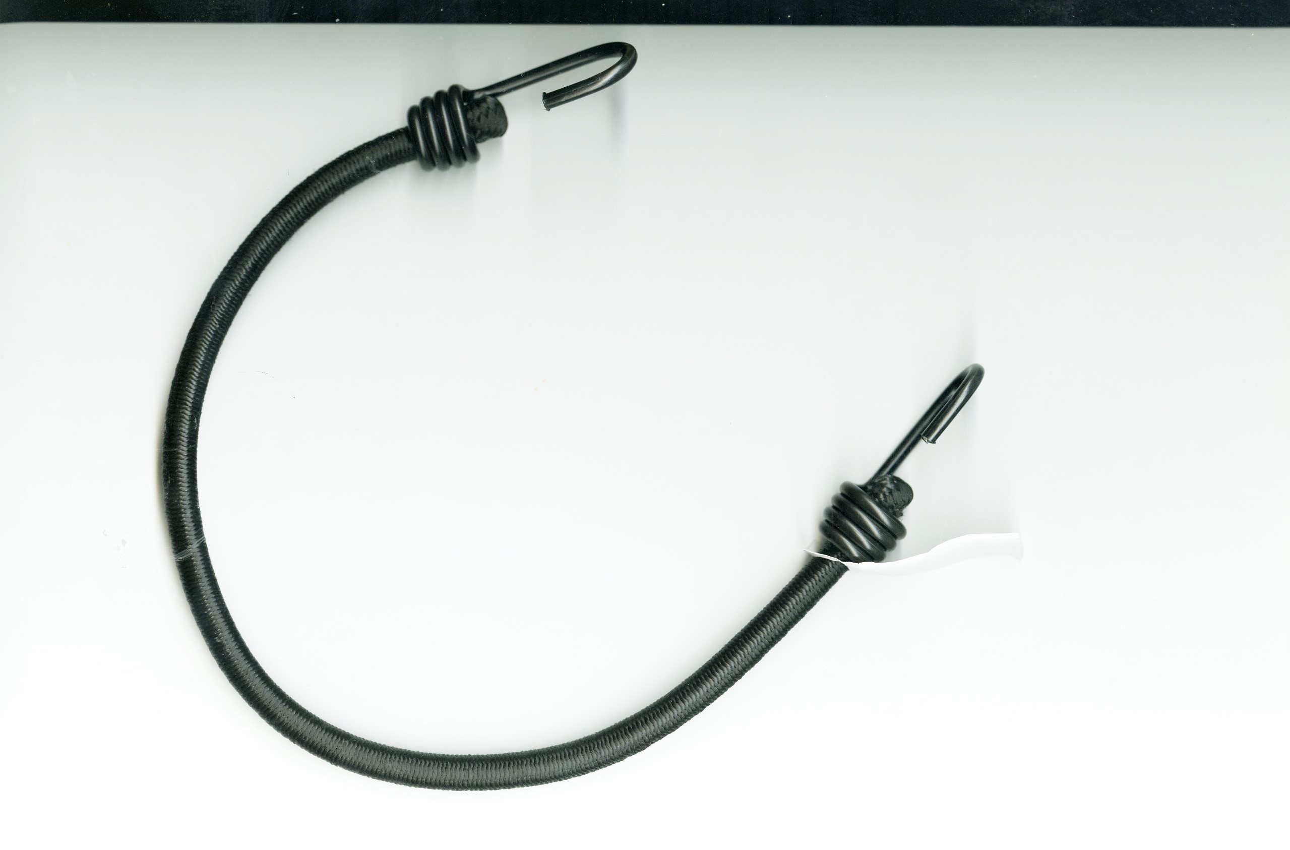 1/2 (12MM) X 24 Black Heavy Duty Bungee Cord Assembly with PVC Coated Hooks