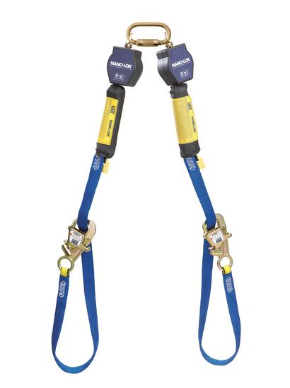 DBI Sala Nano-Lok 9 Tie-Back Twin-Leg Self Retracting Lifeline-Web