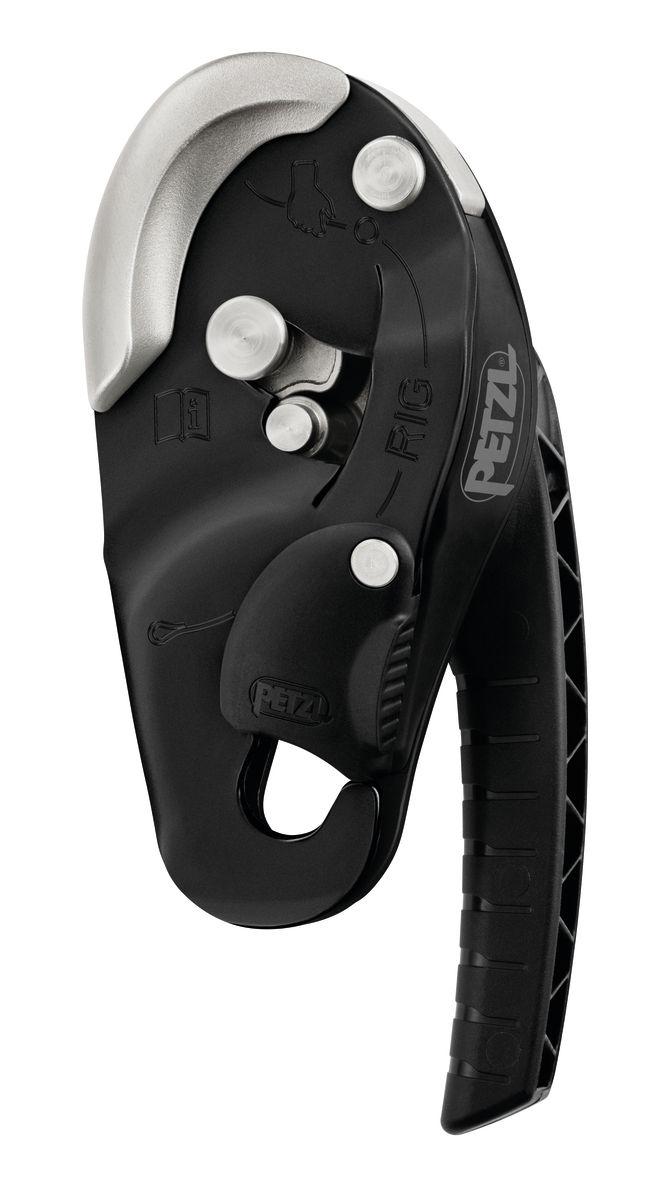 Petzl RIG Compact Self-Braking Descender, Black