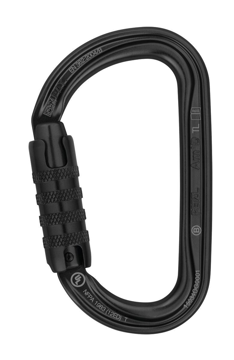 Petzl AmD Triact-Lock Aluminum Carabiner - Black