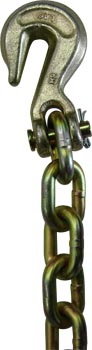 TRANSPORT BINDER CHAIN, SYSTEM 7, 5/16 X 20 WITH CLEVIS HOOK