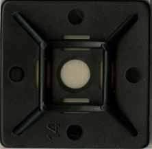 ADHESIVE-BACK CABLE TIE MOUNTING BASE, SMALL, BLACK