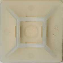 ADHESIVE-BACK CABLE TIE MOUNTING BASE, SMALL, WHITE