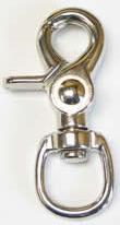 ZINC SWIVEL EYE TRIGGER SNAP, 1/2 EYE, 2.5 LONG #5013