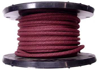 3/8 MAHOGANY COTTON BELL CORD WITH WIRE CORE CENTER