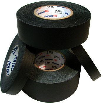 3 X 60 YARDS BLACK PERMACEL-665.TAPE (16/CASE)