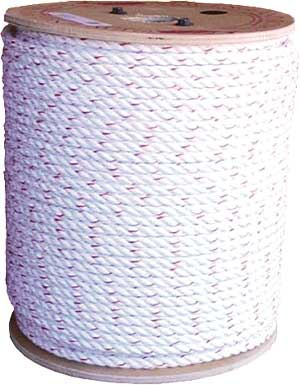 3/8 3 STRAND MULTILINE II ROPE, APPROXIMATE MINIMUM BREAKING STRENGTH 3,200 LBS.