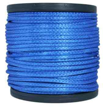 3/8 AMSTEEL BLUE ROPE, MINIMUM BREAKING STRENGTH 17,600 LBS.