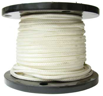 7/16 SOLID WHITE DOUBLE BRAID POLYESTER ROPE, APPROX. MINIMUM BREAKING STRENGTH 6,300 LBS.