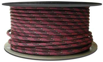 7/16 BURGUNDY ULTRA-TECH ROPE WITH TECHNORA CORE 12,600 LBS.