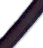 "13/32"" BLACK COTTON FRENCH BUNGEE CORD, 96 STRANDS, #16218"