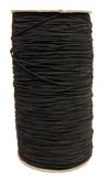 "1/16"" 1MM) Solid Black Polyester Bungee Cord"