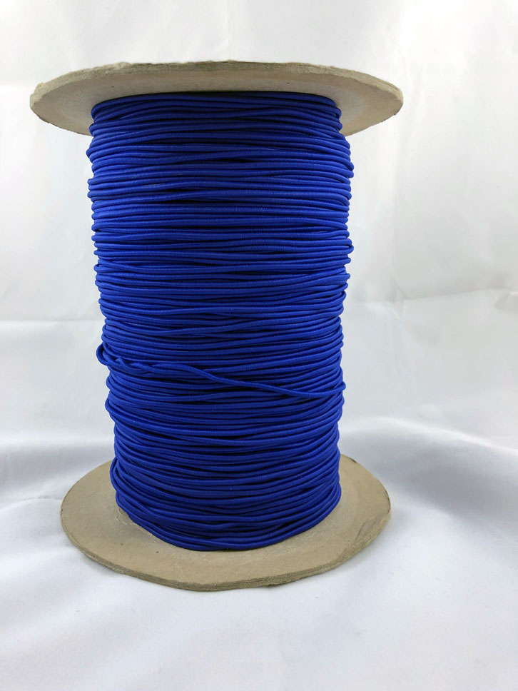 "3/32"" (2MM) Blue Polyester Bungee Cord"