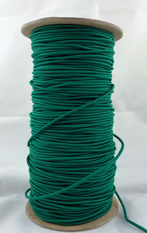 "3/32"" (2MM) Green Polyester Bungee Cord"