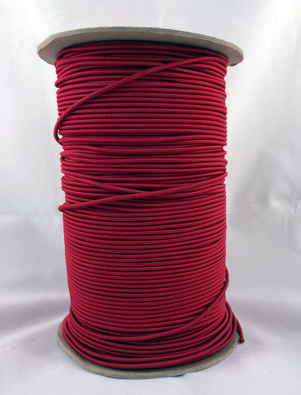 "3/32"" (2MM) Red Polyester Bungee Cord"