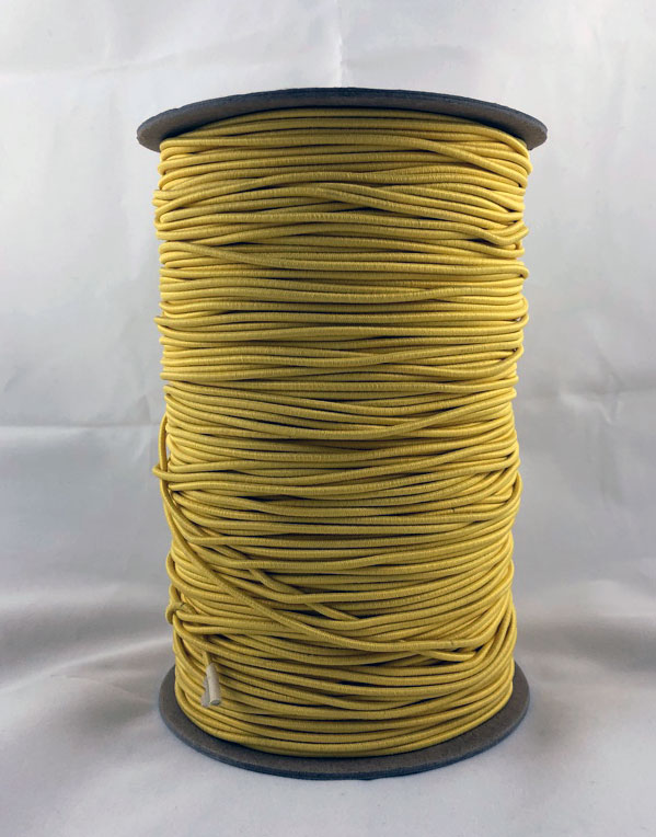 "3/32"" (2MM) Yellow Polyester Bungee Cord"