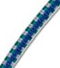 "5/32"" Multi-Colored (Blue With White & Green) Fibertex Bungee Cord"