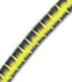 "5/32"" Multi-Colored (Yellow With Blue & Black) Fibertex Bungee Cord"