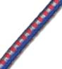 "5/32"" Multi-Colored (Blue With Red & Silver) Fibertex Bungee Cord"