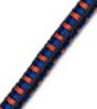 "5/32"" Multi-Colored (Black With Orange & Blue) Fibertex Bungee cord"