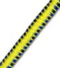 "5/32"" Multi-Colored (Yellow With Black & Blue) Fibertex Bungee Cord"