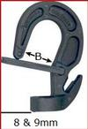 8MM & 9MM Adjustable Plastic Hook with Safety Latch