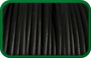 Black Galvanized Aircraft Cable