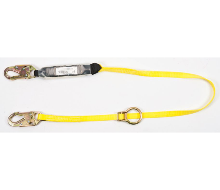 MSA Lanyard, 6FT Adj with Rebar Hooks
