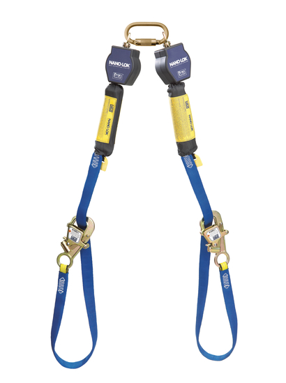 DBI Sala Nano-Lok 9\' Tie-Back Twin-Leg Self Retracting Lifeline-Web