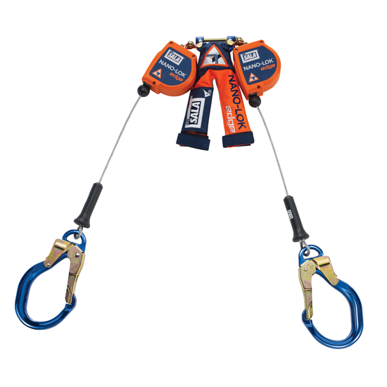 DBI Sala Nano-Lok 8\' Edge Twin-Leg Self Retracting Lifeline-Cable