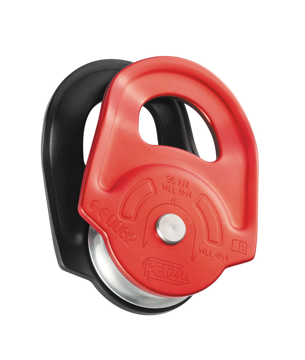 Petzl High Strength w/ Swinging Side Plates Rescue Pulley-Red