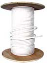 "5/16"" WHITE COTTON BELL CORD WITH WIRE CORE CENTER"
